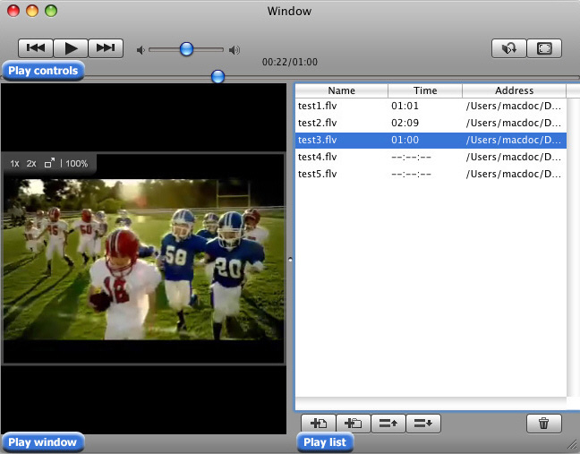 Screenshot of Sothink Free FLV Player for Mac