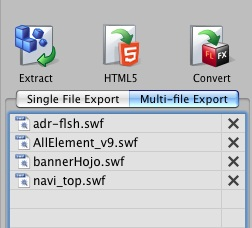 Flash Decompiler Mac - Export Multi-file
